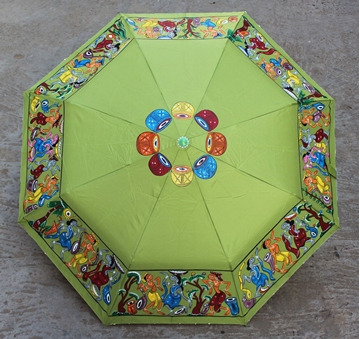 Picture of Light Green Handdrawn Umbrella