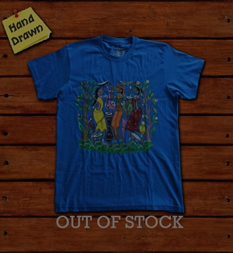 Picture of Royal Blue Potua Art T-Shirt