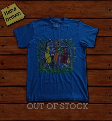Picture of Royal Blue Potua Art T-Shirt