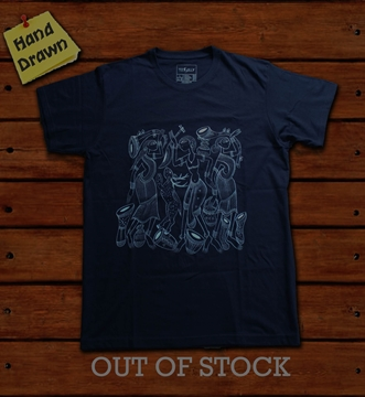 Picture of Navy Blue Potua Art T-Shirt